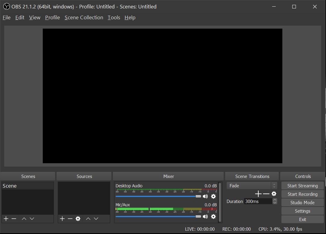Software de grabación de juegos OBS