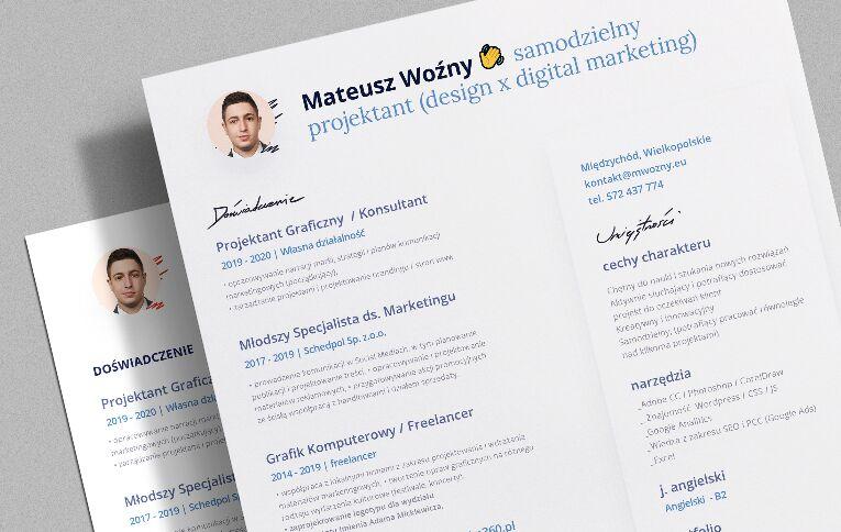 CV Resume 2020 Descarga gratuita de la plantilla PSD