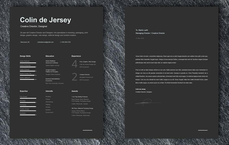 Plantillas de currículum y carta de presentación GRATUITAS para Illustrator