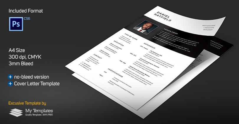 Currículum profesional + plantilla de carta de presentación