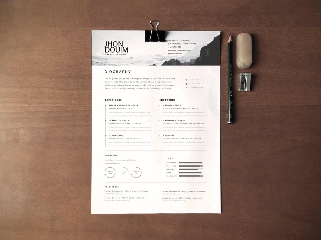Currículum gratuito (Regalo PSD)