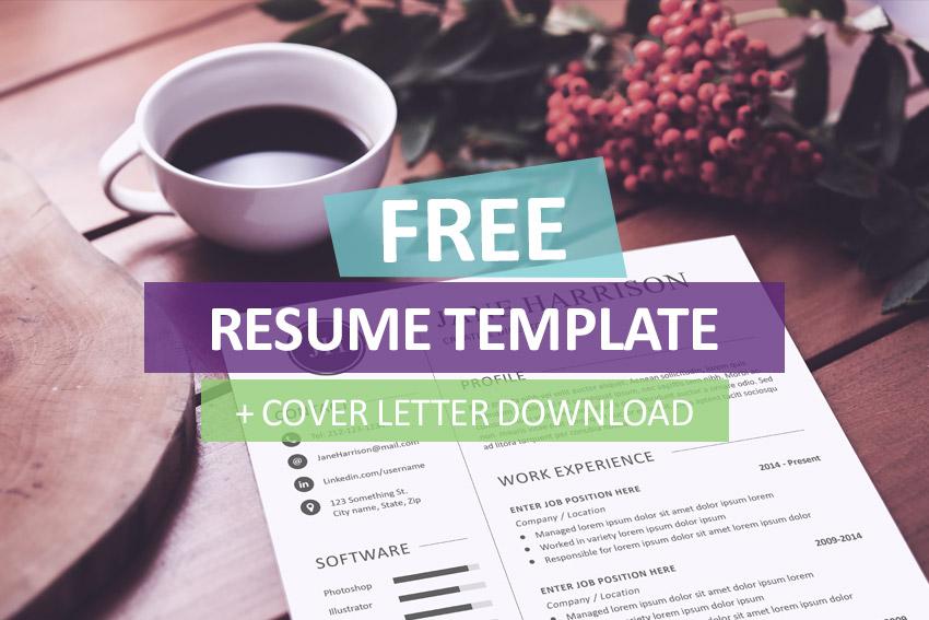 Plantilla de currículum libre y carta de presentación