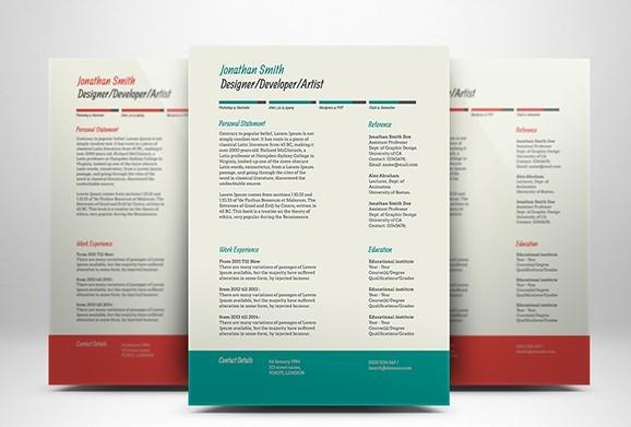 Currículum vitae y carta de presentación (Freebie)