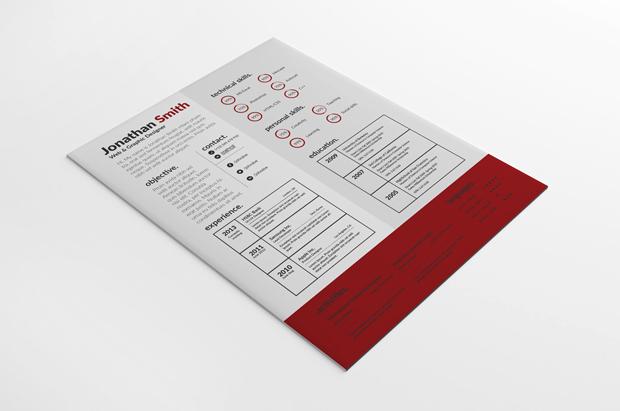 PSD Creative Resume Template vol. 1)