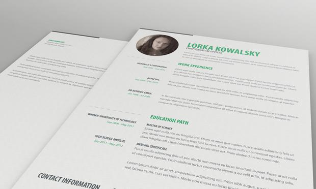 Plantilla CV de currículum simple gratuita