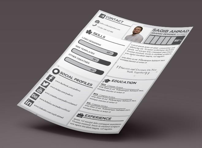 Plantilla CV gratuita para diseñador gráfico