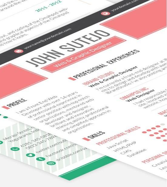 Plantilla de currículum de página única de Octama