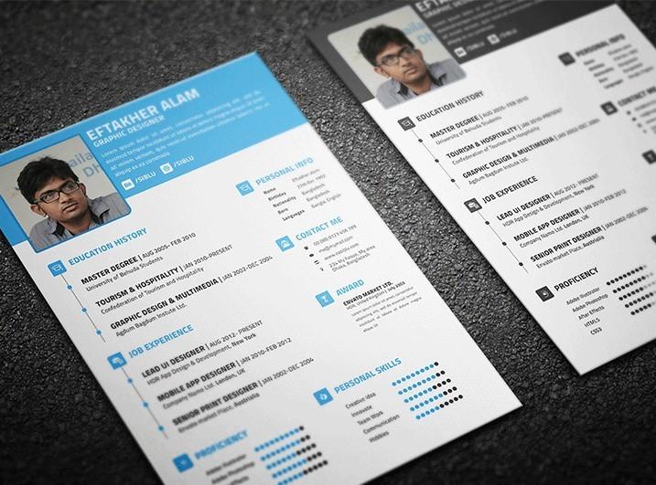 Plantillas de CV y tarjetas de visita gratuitas