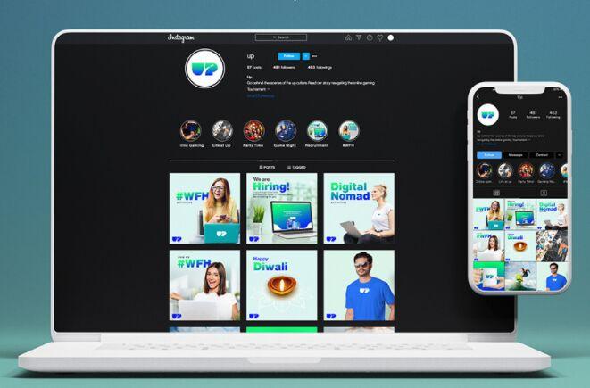 Instagram gratis Adobe XD Template PC Mobile