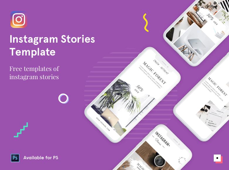Historias gratuitas de Instagram PSD Template-min