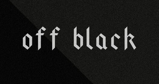 Off Black Font