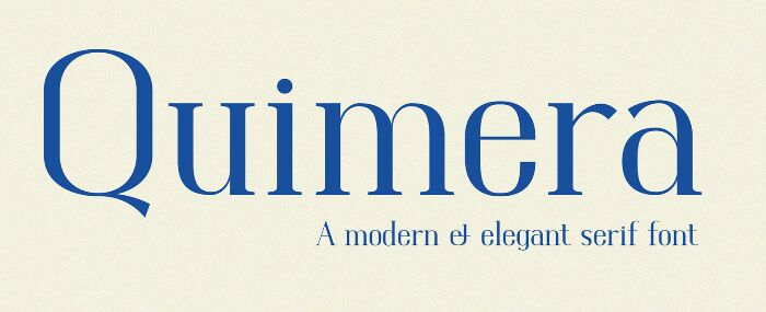 Quimera Free Serif Font