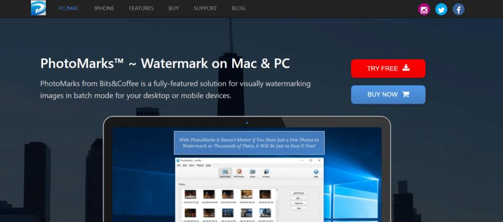 Marcas de fotos: aplicación de marca de agua