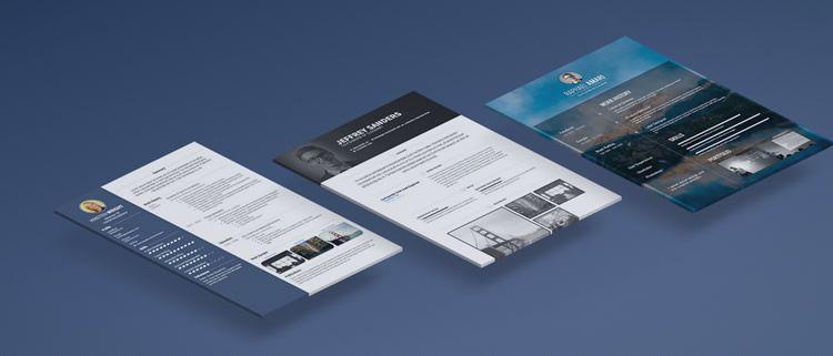 Diseño creativo de la aplicación web de currículum visualCV