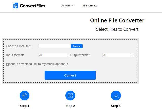 Sitio web de ConvertFile