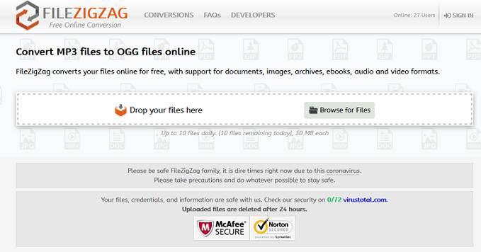 Sitio web de Filezigzag