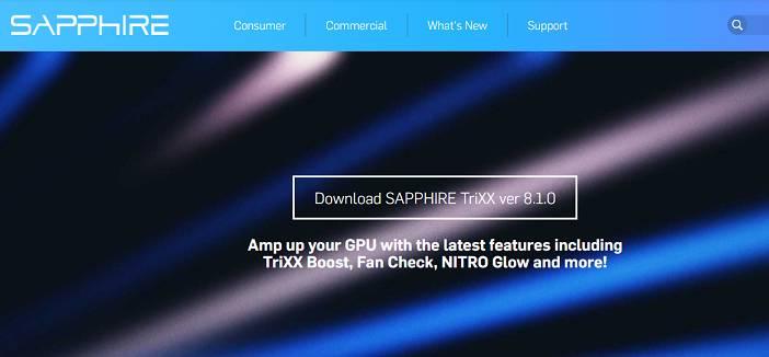 Software de utilidad Sapphire TriXX