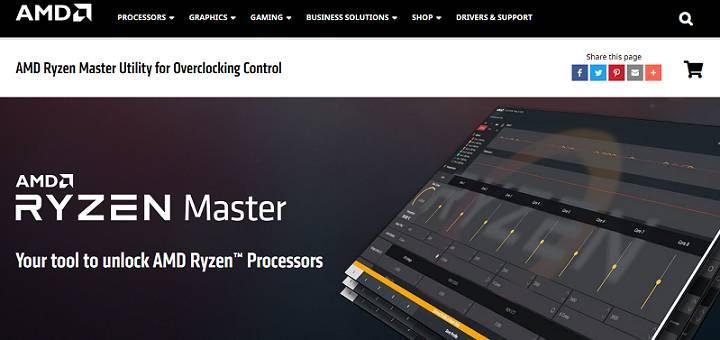 Software AMD Ryzen Master