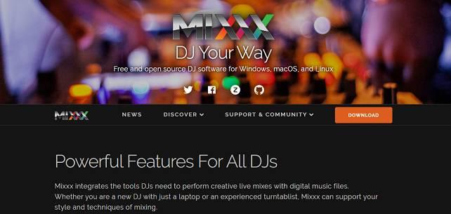 Software Mixxx para hacer ritmos
