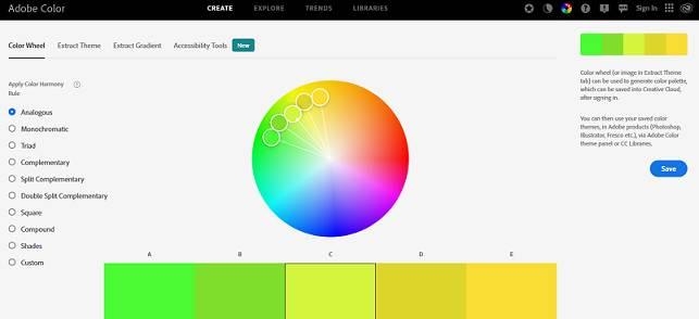 Sitio web de Adobe Color CC