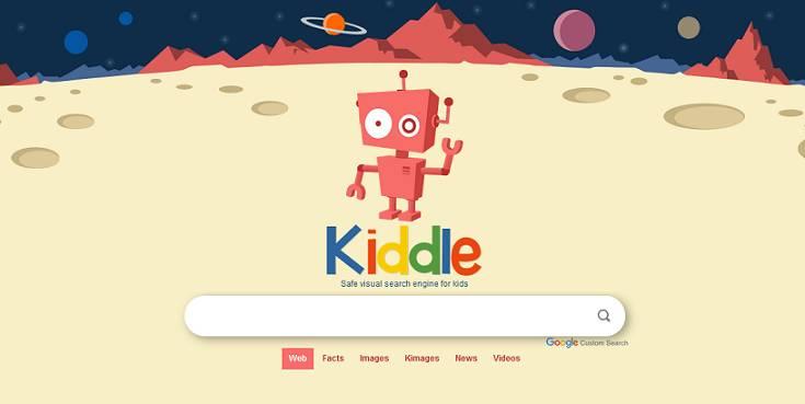 Sitio web de Kiddle