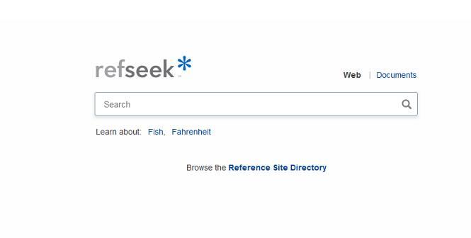 Sitio web de Refseek