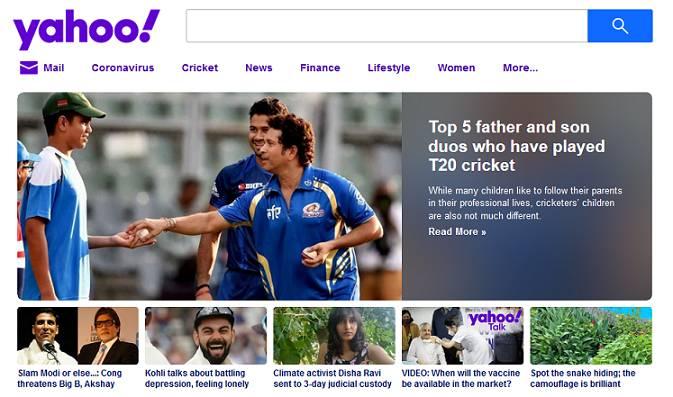 Sitio web de Yahoo Kids