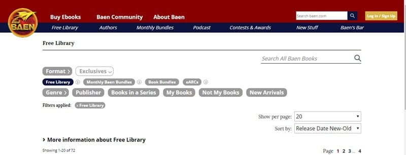 biblioteca gratuita de baen