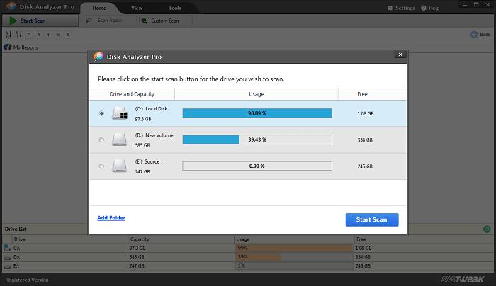 Disk Analyzer Pro: el mejor analizador de espacio en disco