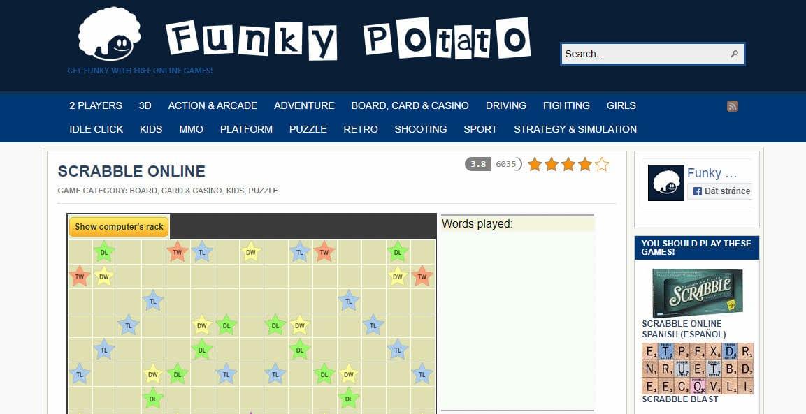 Scrabble de patata funky