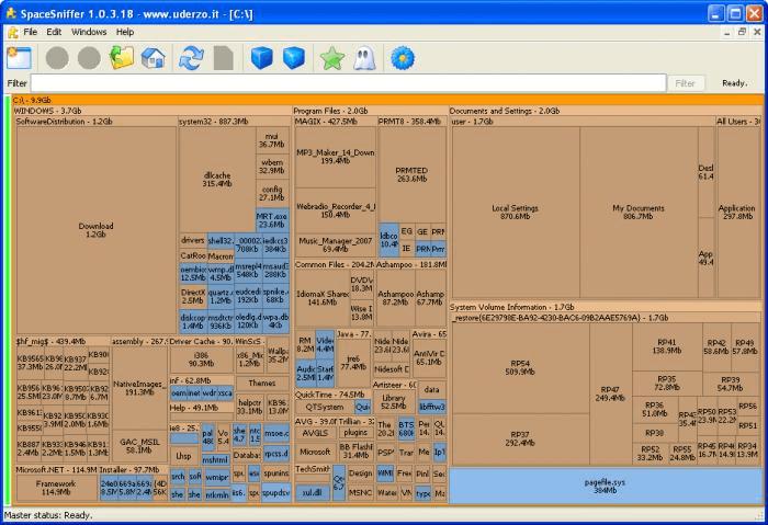 SpaceSniffer: el mejor analizador de espacio en disco