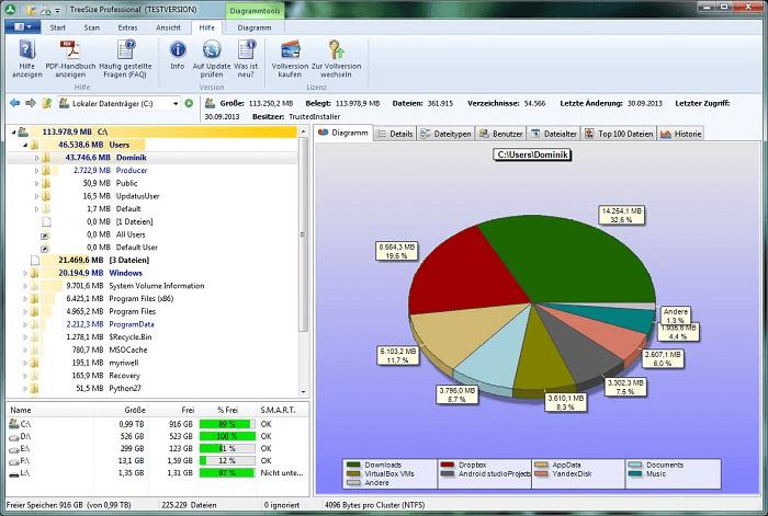 TreeSize: el mejor analizador de espacio en disco