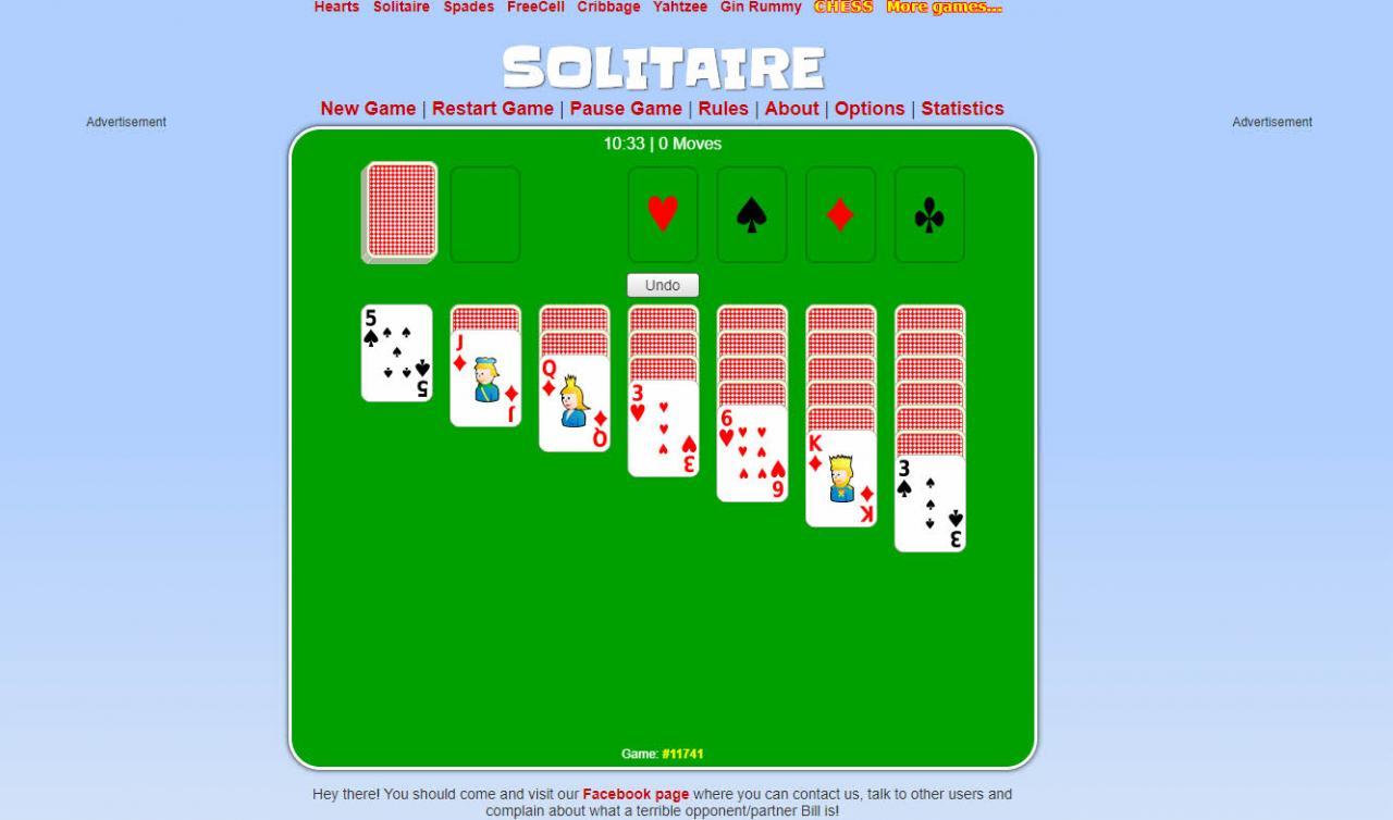 solitario de juegos de cartas