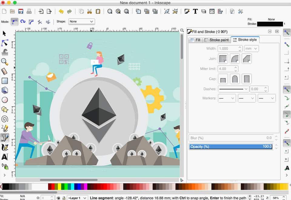 software de gráficos gratis inkscape