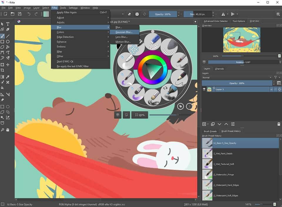 software de gráficos gratuito krita