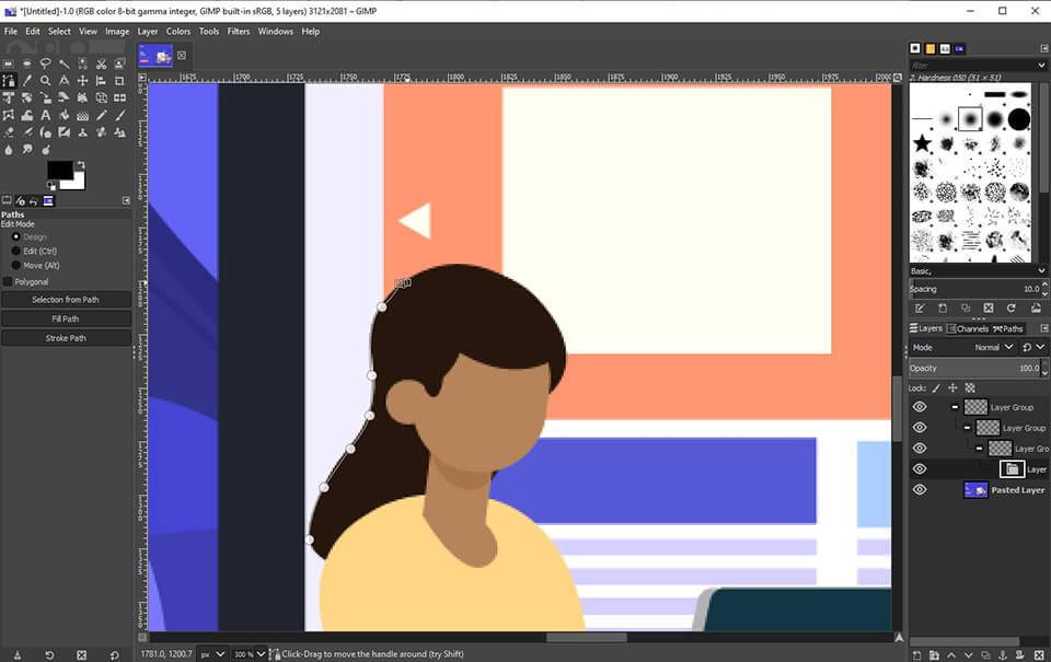 software de gráficos gratuito gimp