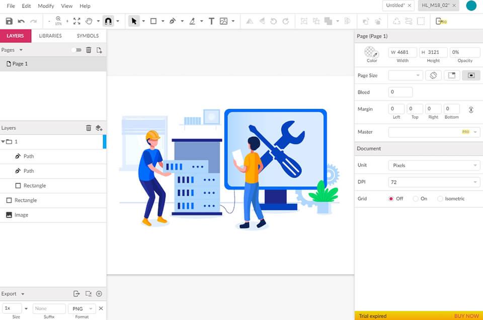 software de gráficos gratuito gravit designer
