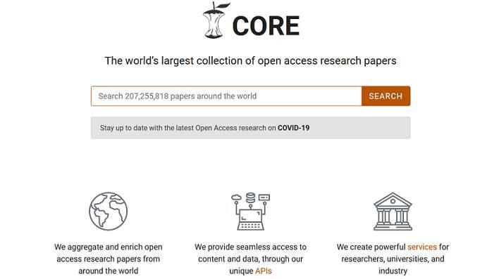 Sitio web CORE