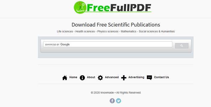 Sitio web de FreeFullPDF