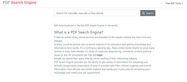 Sitio web de descargas de PDF