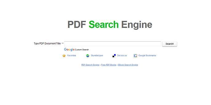 Sitio web del motor de búsqueda PDF