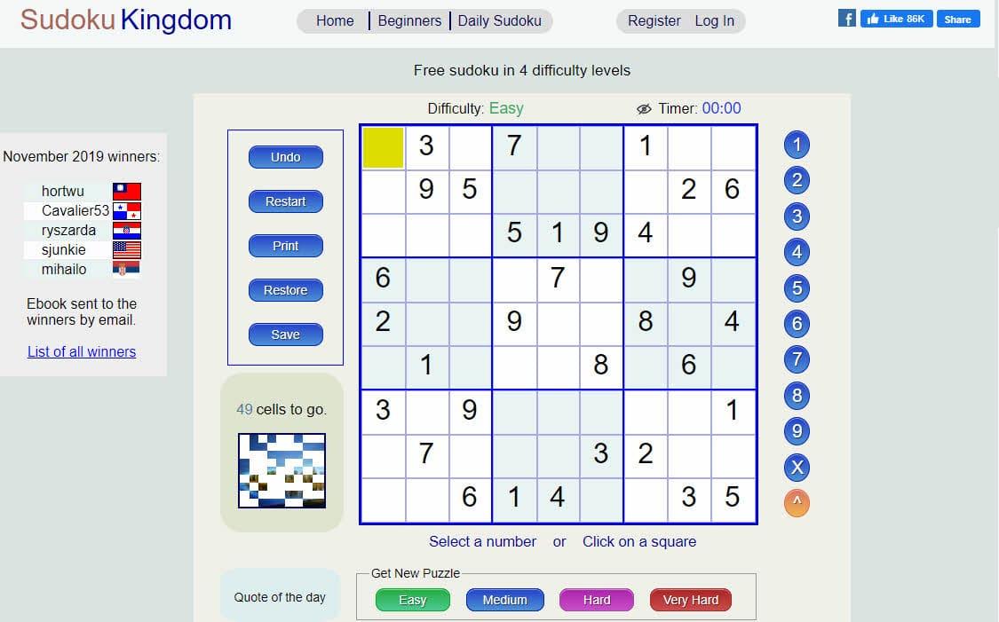reino de sudoku
