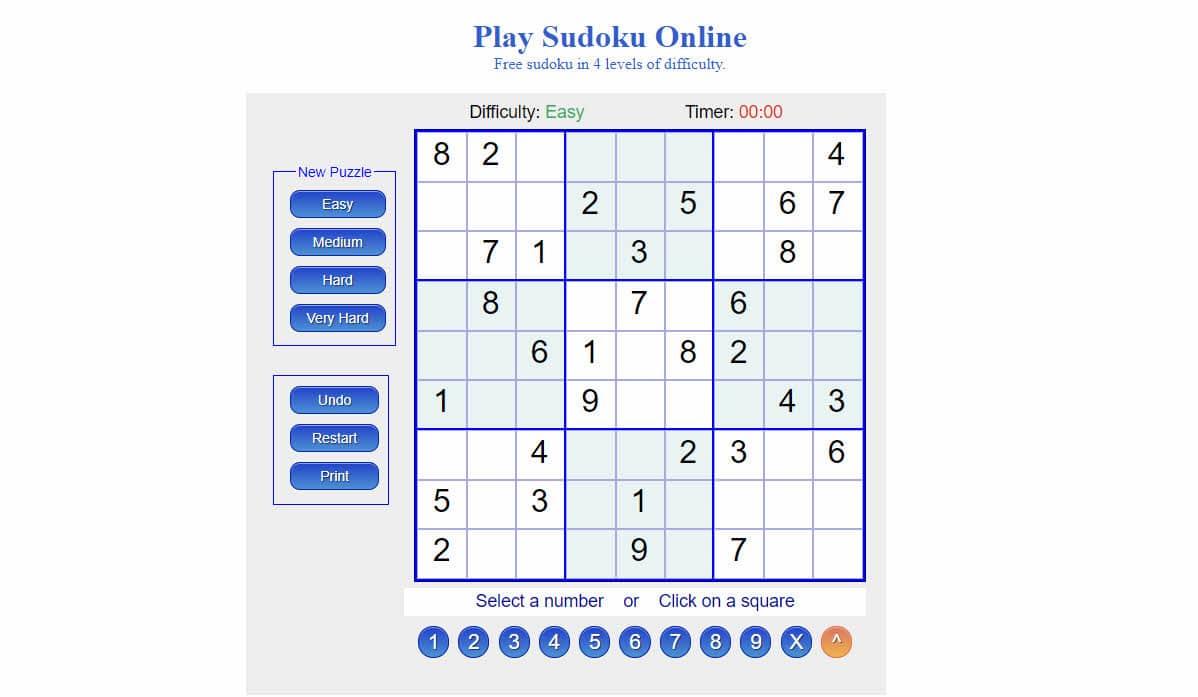 sudoku en línea