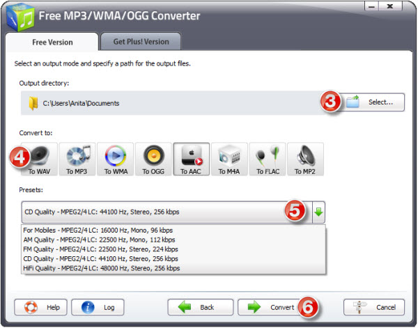 Free MP3 WMA OGG Converter