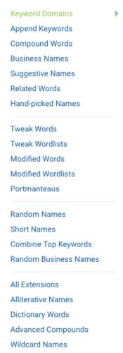 Generador de nombres para blogs de Namestation