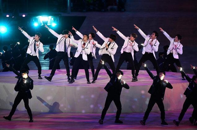 Actuación de EXO en los Juegos Olímpicos de Invierno de PeongChang