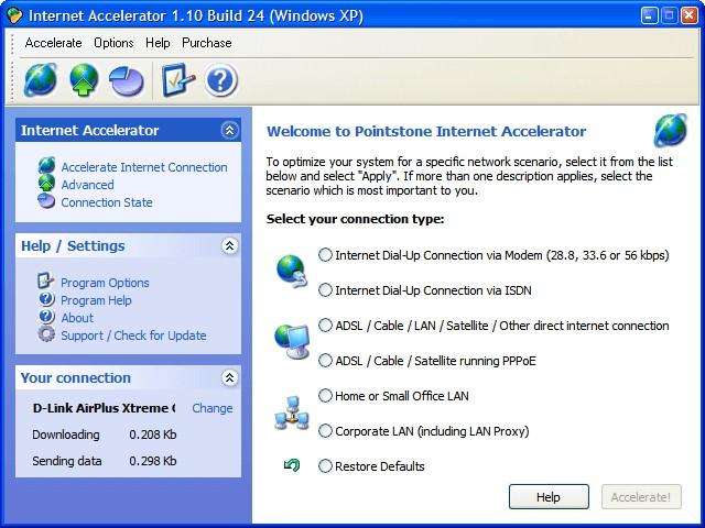 Internet Accelerator es un software gratuito