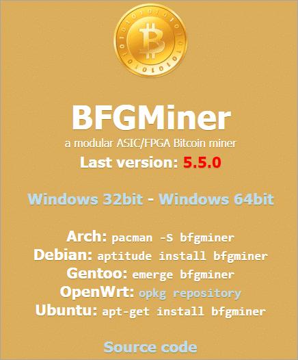 BFGMiner - software de minería de bitcoins