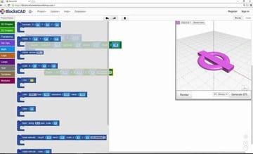 Imagen del mejor software de modelado 3D gratuito para principiantes: BlocksCAD