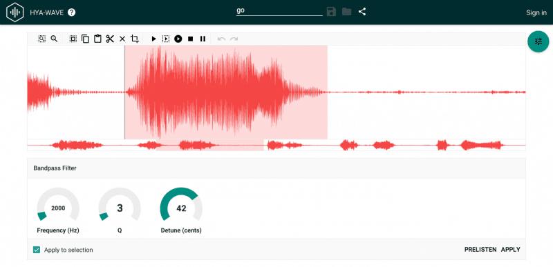 Hya-Wave es un editor en línea de uso gratuito y completamente nuevo en 2015